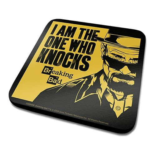Breaking Bad I Am The One Who Knocks Single Coaster Drinks Mat